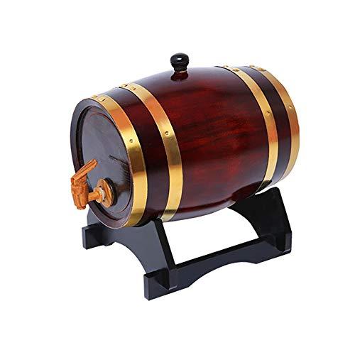 Barile di vino for famiglie Barile di vino secco Barile di legno da forno in rovere (Color : E, Size...