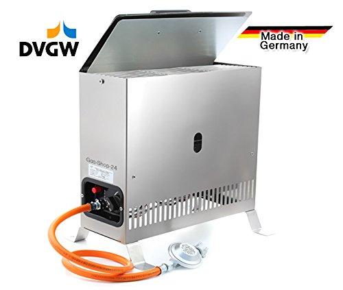 4 kW Edelstahl Gewächshausheizung / Frostwächter mit Gasschlauch , Druckminderer (Gasheizung,...