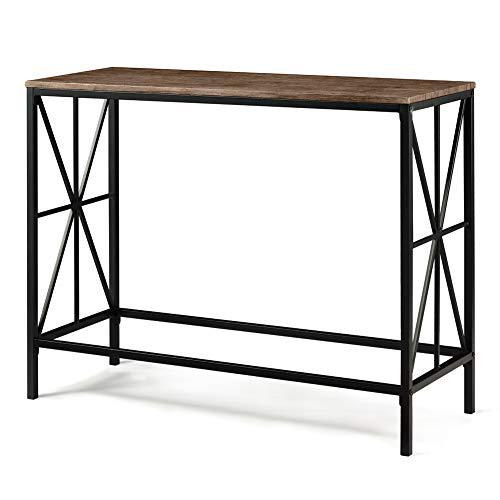 Aingoo Tavolino a consolle in Stile Industriale Tavolino da Ingresso in Metallo X-Design per Il...