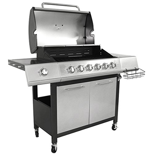 Every burner has its own individual igniter and accurate heat control settings, allowing you to have total control over temperatures to get the best results. A hood thermometer also helps in this respect, whilst a full-length chrome warming rack will keep any food that is ready t be set aside as others cook.