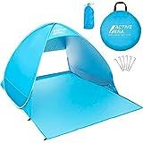 Active Era Tente de plage Pop Up Déployable - protection solaire UV UPF 50+ - Comprend un sac de transport et des piquets de tente