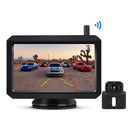 """BOSCAM K7 Drahtlos Digital Rückfahrkamera Set mit Eingebautem Funksender, 5\"""" LCD Monitor, Kabellose Rückfahrkamera mit IP68 Wasserdichter Kamera, Nachtsicht für Kfz, SUV, Van, Campingbus, Anhänger"""