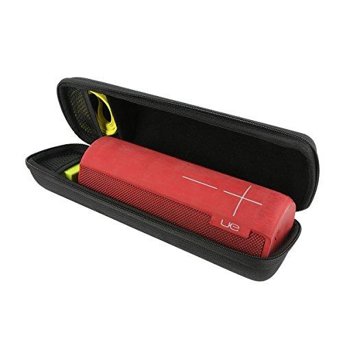 Khanka Reise tragen Fall Tasche Case Für Ultimate Ears UE MEGABOOM Wasserdicht, Schlagfest Wireless Bluetooth Lautsprecher. Netztasche für Wand-Ladegerät und USB-Kabel - Schwarz