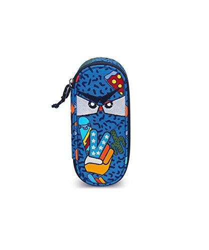 Bustina Round Plus Invicta Lip, Blu, Scomparto attrezzato porta penne