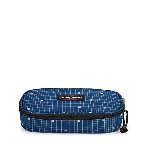 Eastpak OVAL SINGLE Astuccio, 22 cm, Blu (Little Grid)