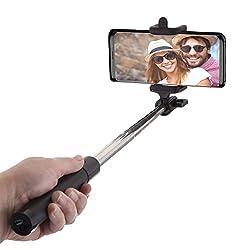 Kaufen Power Theory Bluetooth Selfie Stick mit 20 Stunden Akkulaufzeit - Kabellose Wireless Selfie Stange für iPhone X 8 7 Plus 6s 6 SE 5S 5 Samsung Galaxy Android S8 S7 Edge S6 S5 S4 Note Mini Smartphone - Universal Monopod Stab