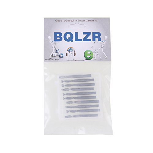 BQLZR Double Flute Spiral Cutter CNC Router Bits Wood Acrylic Drill Pack Of 10