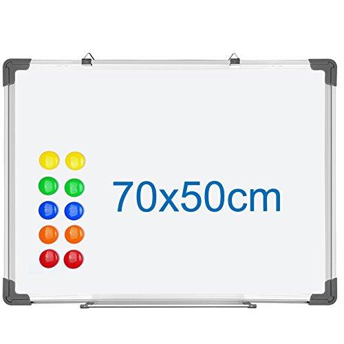 SIENOC Lavagna Magnetica Bianca, Con Cornice In Alluminio, Superficie in tinplate e retro in zinco...