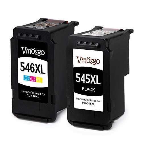 Vmosgo Canon PG-545 CL-546 545 546 Cartucce d'inchiostro, Compatibile con Canon Pixma MX490 MX495...