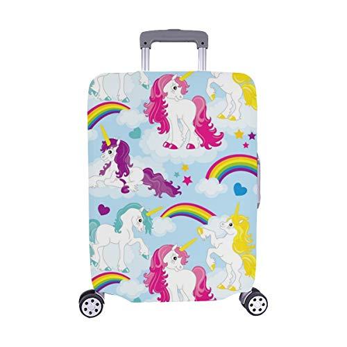 Set simpatico Unicorno Colorful Mane Spandex Trolley Custodia da viaggio protezione copri bagagli...