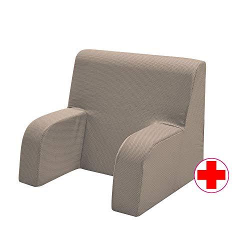 GEEMMA s.r.l. Poltrona comodone, Schienale Ortopedico o Poltrona Sanitaria con Tessuto sfoderabile e Lavabile. Poltrona da Letto per Anziani o Allattamento