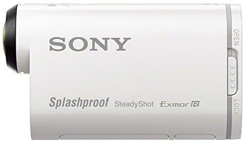 Sony Action Cam HDR-AS200VR - Videocámara deportiva (Full HD, resistente a salpicaduras, WI-FI, NFC, GPS y kit de mando a distancia Live-View), blanco
