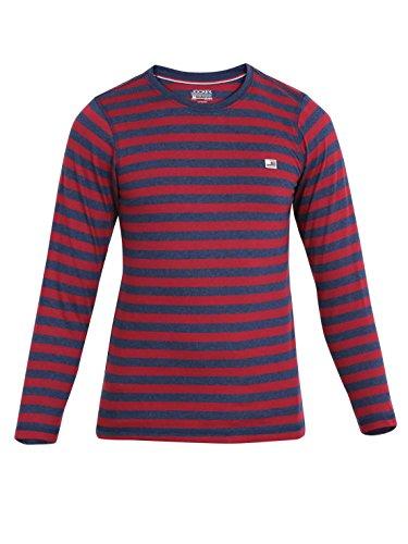 Jockey Boys' Cotton Crew Neck T-Shirt (UB15-0105-Ink Blue Melange and ReD_10)