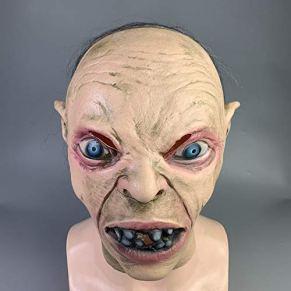 JNKDSGF Máscara de terrorMáscara de Gollum El Señor de los Anillos Decoración de Cosplay Accesorios de Fiesta de Terror de Halloween Máscara Divertida Accesorios de látex