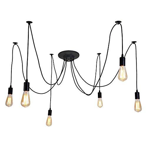 ALAMP Lampade a Sospensione Vintage da Soffitto,E27, Lampadario Moderno con 6 luci sospese Ideale...