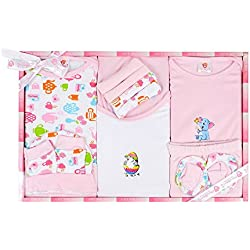 Mini Berry Baby Clothing Set(Pink, New Born) - Pack of 13