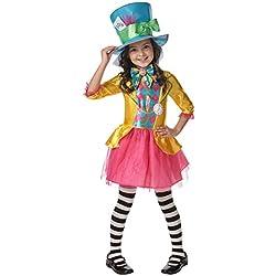 Rubies s oficial para niña de Disney Alicia en el país de las maravillas Mad Hatter disfraz–grande–7–8años