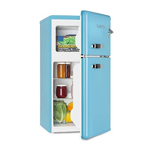 KLARSTEIN Irene • Frigorifero con Congelatore • Frigorifero Retrò • Freezer da 61 Litri •...