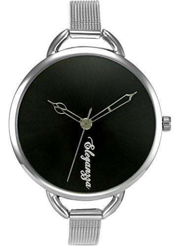 Eleganzza Analogue Black Dial Women's Watch -SS0011Bk