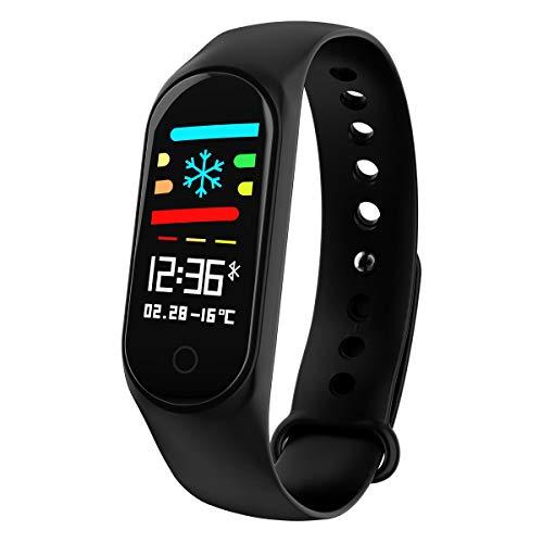 Xfyxl, orologio fitness con schermo a colori, impermeabile, IP68, con cardiofrequenzimetro,...
