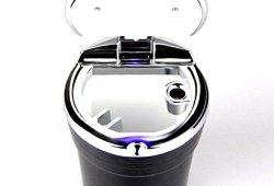 LEORX Auto voiture sans fumée de Cigarette cendrier avec lumière LED bleu (noir) Prix