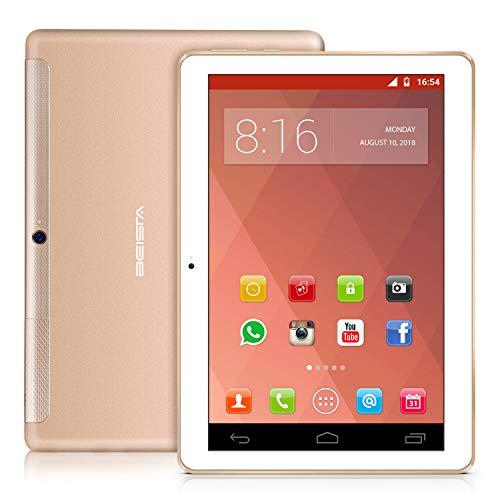 4G Tablet 10 pollici BEISTA-(4G LTE,Wifi,Android 7.0,Quad-core,32GB ROM,2GB RAM,slot SIM doppia+slot...