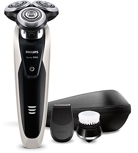 Philips SHAVER Series 9000 S9090/43 Máquina de afeitar de rotación Recortadora Negro, Metálico - Afeitadora (Máquina de afeitar de rotación, 2 año(s), Negro, Metálico, Batería, Ión de litio, 1 h)