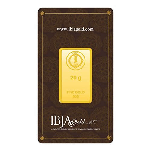 IBJA Gold 20 Gm, 24K (999) Yellow Gold Precious Bar