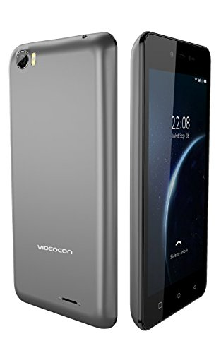 Videocon Krypton 30 Android 6.0 Marshmallow 5 Inch IPS with MiraVision 4G VoLTE 3GB RAM 16GB Internal Memory Panic Button SOS Dual Whatsapp Gesture Control Selfie Camera with LED Flash 3000mAh Massive Battery Dual Sim Smartphone (Grey)