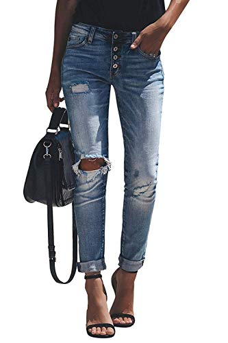Minetom Jeans Damen Jeanshosen Röhrenjeans Skinny Slim Fit Stretch...