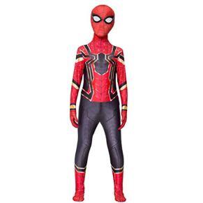 Diudiul Spiderman Traje de Superhéroe Traje Traje Cosplay Zentai (Gris Rojo,4XL(170-180cm))