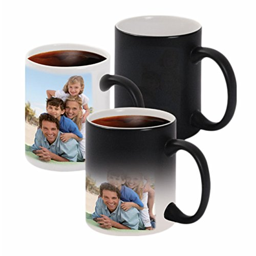 XpressionsOnline Ceramic Printed Personalised 330 ml Magic Mug (Black)