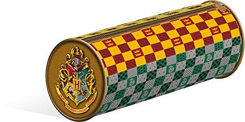 Harry Potter - Astuccio in PVC non riempito con stemma della casa, 20 x 8 cm