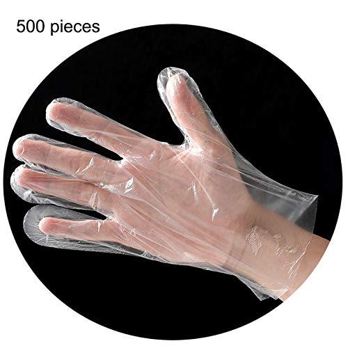 Confezione da 500 guanti usa e getta in polietilene, di grandi dimensioni, per la pulizia degli...