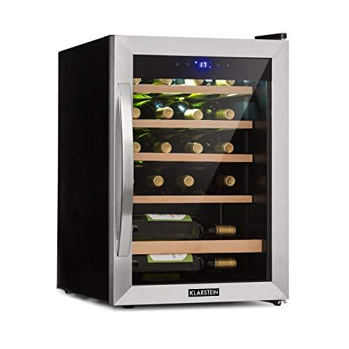 KLARSTEIN Vinamour 19 • Cantinetta Vino con Porta in Vetro • Dispositivo Raffreddamento Vino •...