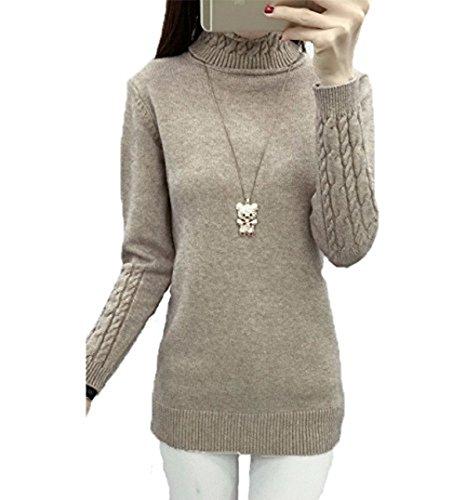 ZEARO 2016 Dünne Dicht um den Hals Pullover Elegante Mode Pullover Damen ... 79a1870ea8