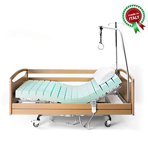 Goldflex - Letto Degenza Ospedaliero Ortopedico 90X195 Singolo Sanitario, Robusto Anziani, Malati,...