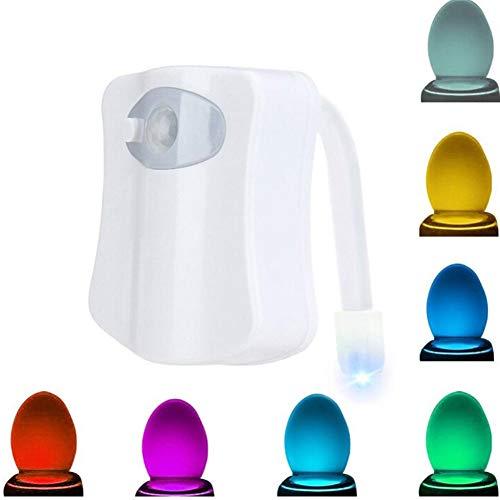 WC Luci Interno Toilette, Movimento per WC, Sensore luce WC, Sensore luminoso a LED per WC, 8 colori...