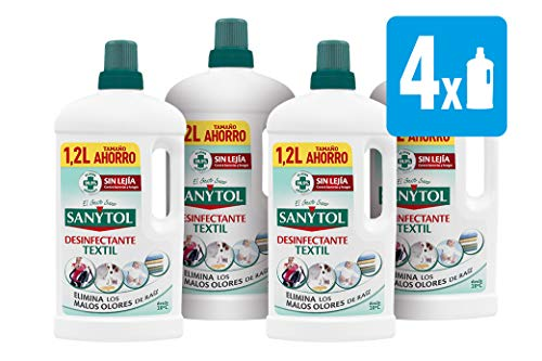 Sanytol - Desinfectante para Ropa sin Lejía, Formato Ahorro - [Pack de 4 x1200ml]- Total: 4800 ml