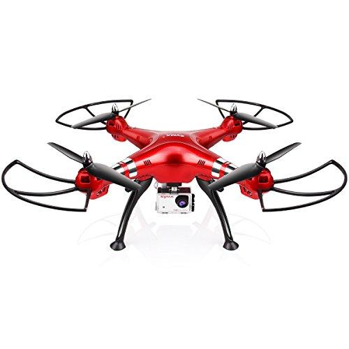 Drone con fotocamera HD Professional 8.0MP SYMA X8HG Quadcopter 2.4GHz telecomando Drone con ritenzione di altitudine, modalità senza testa e 360 rotoli (rosso)