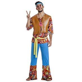 Disfraz de Hippie Hombre Chaleco Talla S