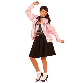 Grease Chaqueta - Chaqueta de entrenamiento Rosa XL 46/48 AÑOS 50 y 60 Chaqueta Grease Jacket Rock N Roll Disfraz