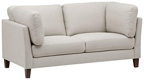 Marchio Amazon -Rivet, divano modello Midtown, con cuscini rimovibili, stile moderno, larghezza 174 cm, colore crema