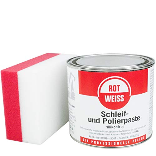 ROTWEISS 5100 Schleif und Polierpaste 750 ml inkl DFT Schleif & Polierschwamm