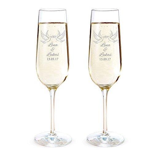 Set di bicchieri da spumante personalizzabili