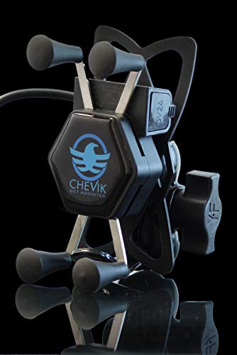 Chevik X-Grip Bike Mobile Holder with Charger Waterproof