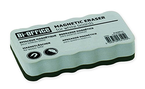 Bi-Office Cancellino Magnetico Leggero, Per Lavagne Magnetiche Bianche, 105 x 55 x 23 mm