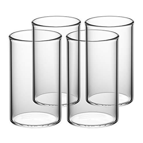 ICEGOLD330 x4 - Set Da 4 Calici Da Acqua, Bicchieri Acqua da 33 Cl (330 ml, 0.3 L, anche 250 ml, 200...