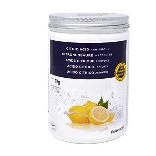 Nortembio Acido Citrico 1 kg. Polvere Anidro, 100% Puro. per Produzione Biologica. Sviluppato in...