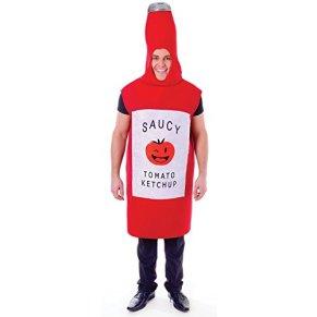Bristol Novelty ac557botella de salsa de tomate disfraz, talla única